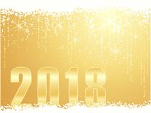 Golden Happy New Year 2018 background Stock Images