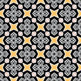 Bold hand drawn star flower quilt. Vector pattern seamless background. Symmetry geometric abstract illustration. Trendy retro. Bold hand drawn star flower quilt stock illustration