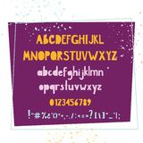 Bold handwritten colorful font. Typographic set for kids design. Typographic set for kids design. Bold handwritten colorful font vector illustration