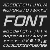Bold Italic Alphabet vector font, Type letters and numbers Stock Images