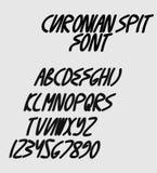 Bold italic font Stock Photo