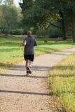 bold jogging man park Στοκ Φωτογραφία