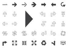 Bold left arrow icon. Arrow  illustration icons set. Bold left arrow icon. Arrow  illustration icons set Stock Image
