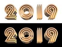 2019 bold letters d illustration. 3D illustration. stock photo