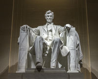 Bold lighting for famous Lincoln statue Stock Photos