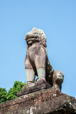 Bold Lion Statue high above the Elephant Gallery Stock Photo