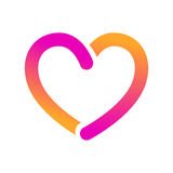 Bold opened line heart icon Royalty Free Stock Photo