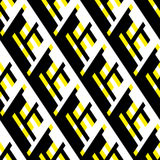 Bold pattern with architectural motifs Royalty Free Stock Image