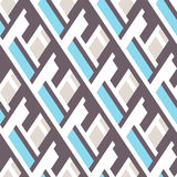 Bold pattern with architectural motifs Royalty Free Stock Images