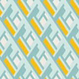 Bold pattern with architectural motifs Stock Photos