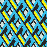 Bold pattern with architectural motifs Stock Images