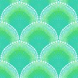 Bold pattern in art deco style in aqua blue. Bold ornament in art deco style in tropical aqua blue colors. Texture for web, print, wallpaper, decals, spring Royalty Free Stock Photography