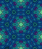 Bold pattern with Indian motifs Stock Image