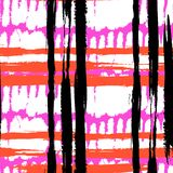 Bold pattern with wide brushstrokes and stripes Royalty Free Stock Photo