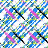 Bold pattern with wide brushstrokes and stripes Stock Photo