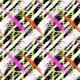 Bold pattern with wide brushstrokes and stripes Royalty Free Stock Photography