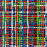 Bold plaid pattern with thin brushstrokes Stock Images