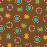 Bold Polka Dots Background. Pattern in fall colors Royalty Free Stock Photography
