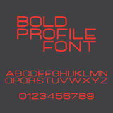 Bold profile Stock Image