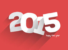 Bold 2015 on red background vector Royalty Free Stock Images