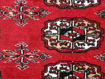 Bold red patterns in Bokhara Royalty Free Stock Photos