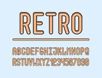 The bold retro creative font. royalty free illustration
