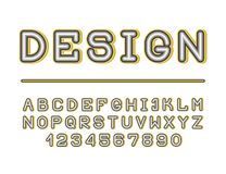 The bold retro creative font. The bold retro creative font for your design royalty free illustration