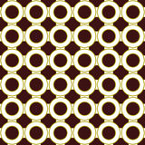 Bold Retro Seamless Repeating Pattern. Bold Retro Green and Brown Seamless Repeating Circle pattern Royalty Free Stock Photography