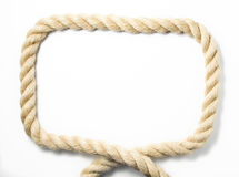 Bold rope frame Stock Images