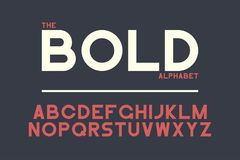 Bold sans-serif font design. Vector alphabet with strong letters. Retro typeface. Bold sans-serif font design. Vector alphabet with strong letters. Retro vector illustration