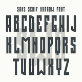 Bold sans serif font in retro style Stock Photography