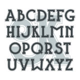 Bold serif font in classic style Royalty Free Stock Photo