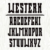Bold serif font in the western style Royalty Free Stock Photography