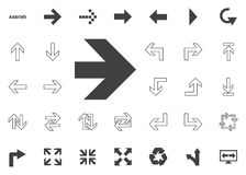 Bold shirt right arrow icon. Arrow  illustration icons set. Bold right arrow icon. Arrow  illustration icons set Royalty Free Stock Photo