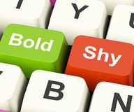Bold Shy Keys Show Confident And Reserved Royalty Free Stock Photos