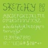 Bold Sketchy Font Stock Photos