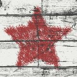 Bold Star Stamp wood Red Stock Photos