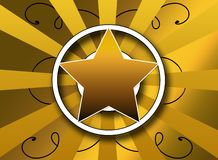 Bold star and sunburst background design Stock Photo