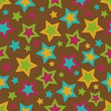 Bold Stars Background. Stars background illustration in bold fall colors Stock Photo