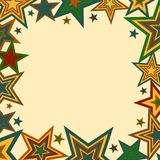 Bold Stars Border Royalty Free Stock Photo