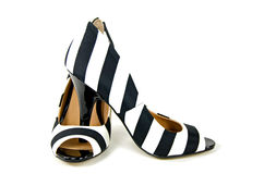Bold striped high heels Royalty Free Stock Images