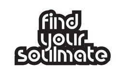 Bold text find your soulmate inspiring quotes text typography de Stock Photos