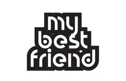 Bold text my best friend inspiring quotes text typography design Stock Images
