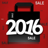 2016 bold white font. Graphic illustration Royalty Free Stock Image
