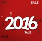 2016 bold white font Royalty Free Stock Photo