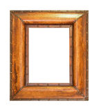 Bold wooden frame. Very bold frame made from wood isolated stock images