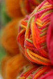 Bold Yarn Colors. Bold and bright skeins of rainbow yarn stock photo