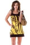 Bold Yellow Print Stock Photo