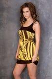 Bold Yellow Print Stock Image