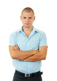 Bold young man standing Royalty Free Stock Images